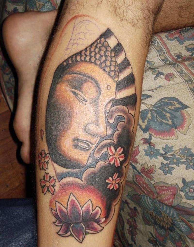 Buddhist inspiring tattoo design