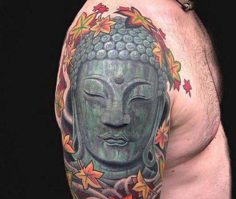 Buddhist religious cool tattoo design