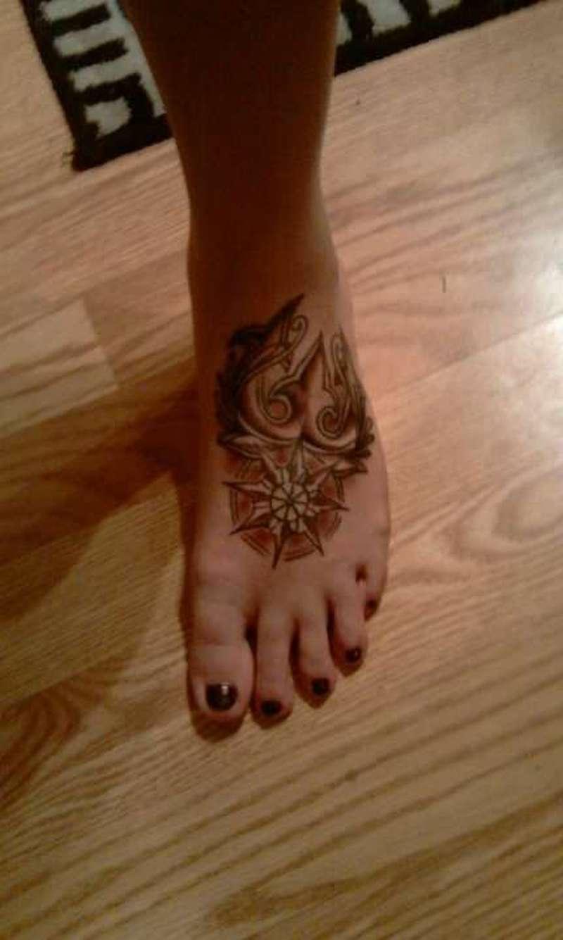 Buddhist Symbol Tattoo On Foot Tattoos Book 65000 Tattoos Designs