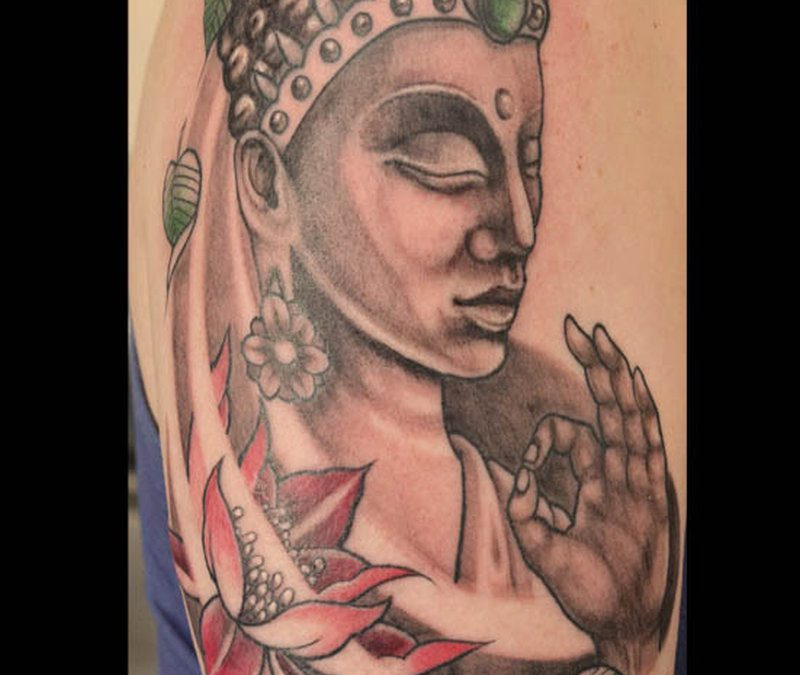 Buddhist tattoo design image