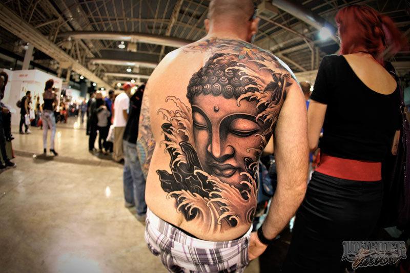 Buddhist tattoo on back 2