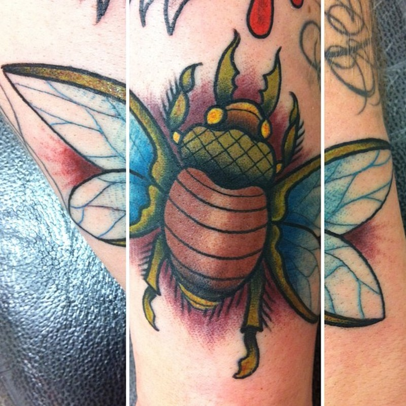 Bug insect tattoo design
