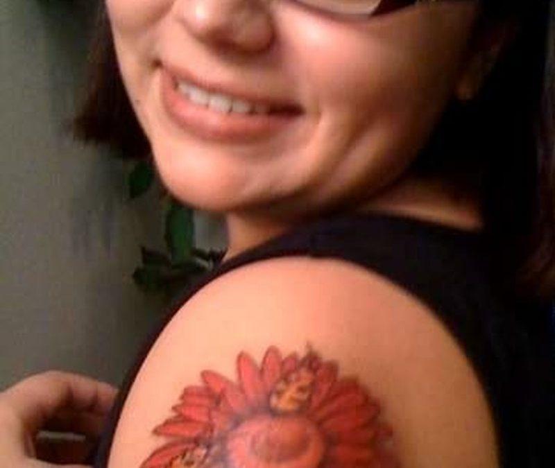 Bug tattoo for girls