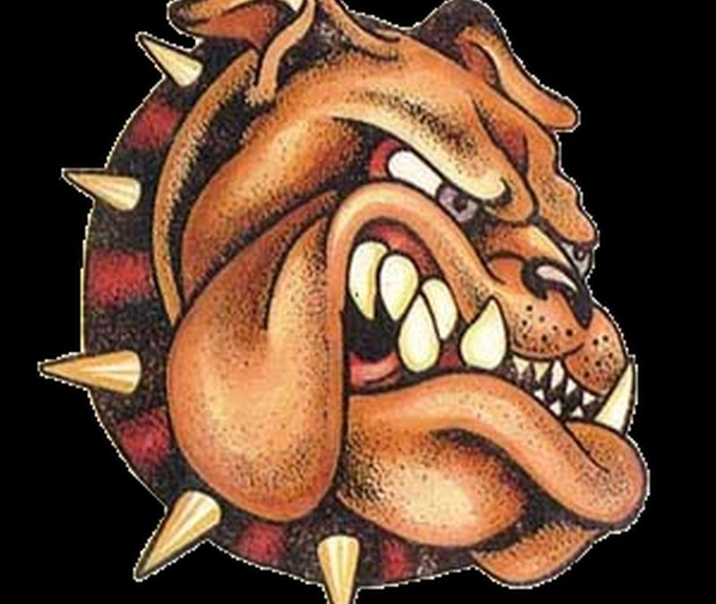 Bulldog collar tattoo design