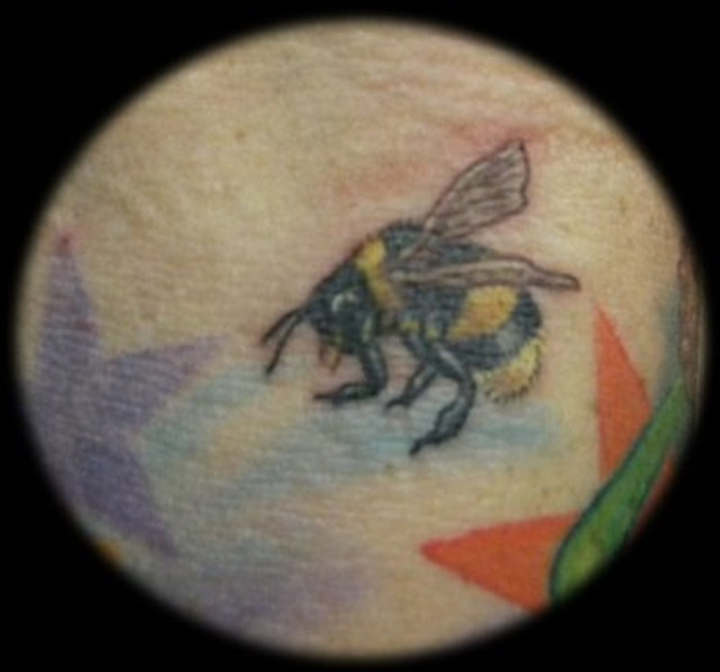 Bumblebee closeup tattoo