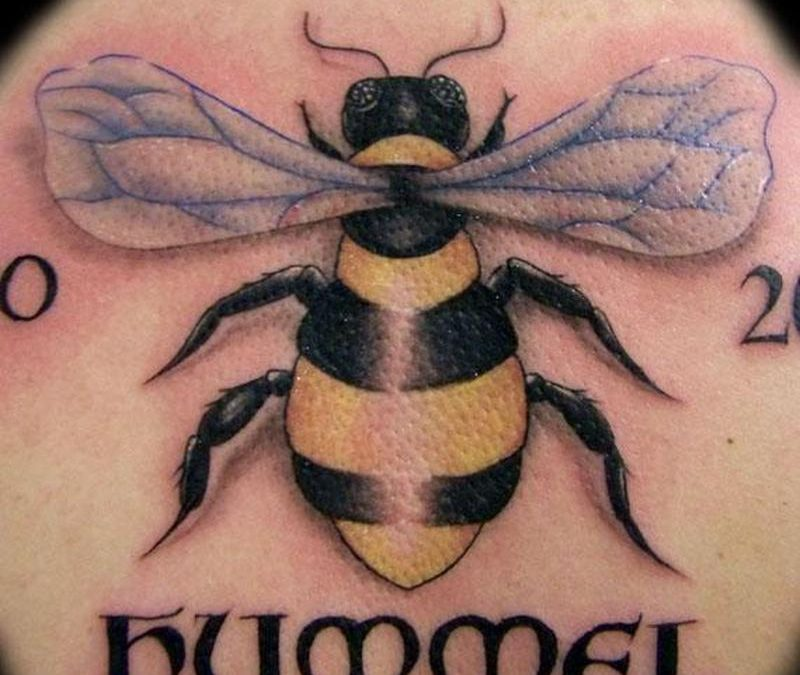 Bumblebee hummel tattoo design
