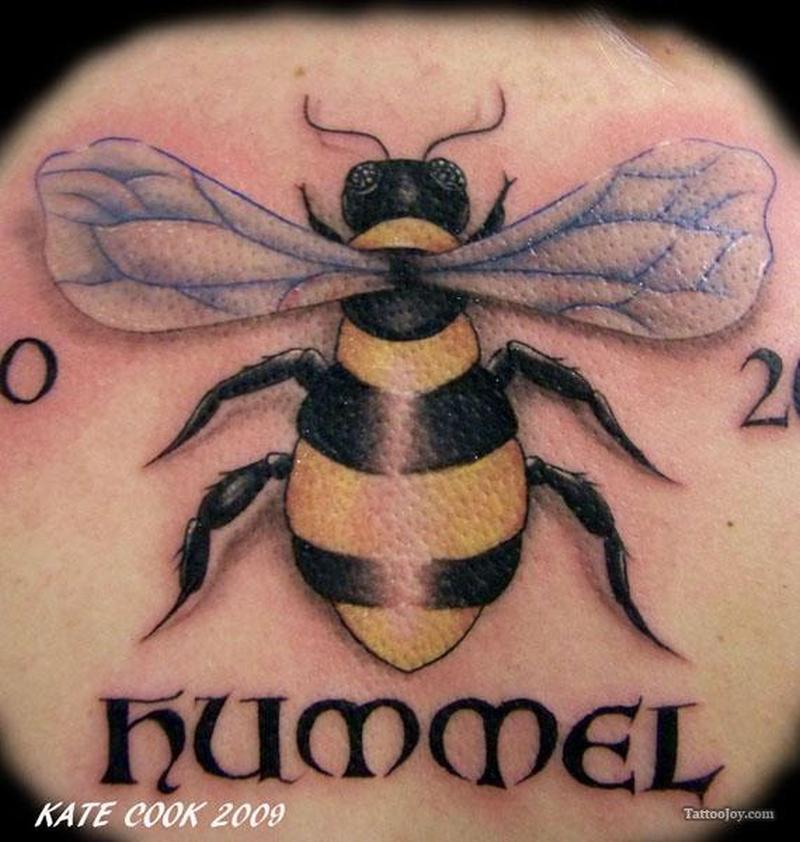 Bumblebee hummel tattoo design