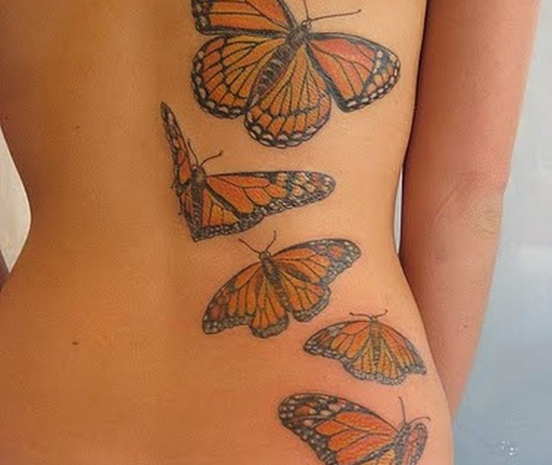 Butterflies animated tattoo