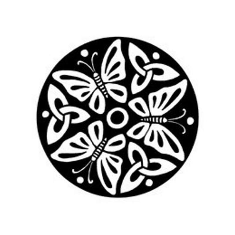 Butterflies on circle tattoo design