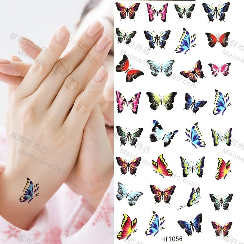 Butterflies tattoo designs for wrist