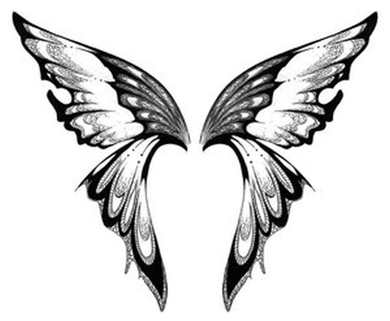 Butterflies wings design tattoo