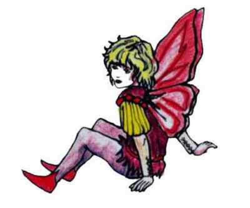 Butterfly fairy tattoo sample