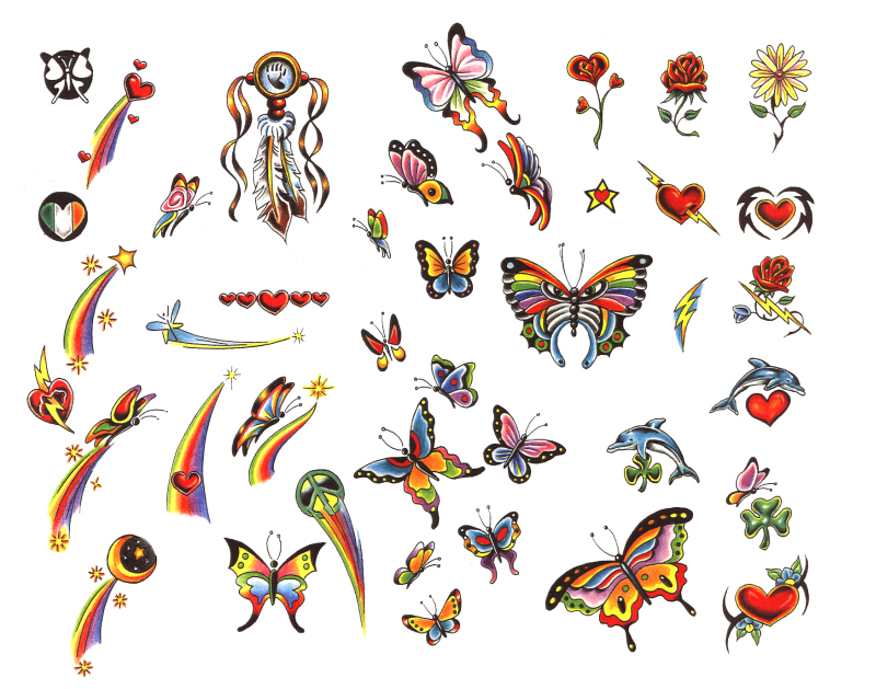 Butterfly flower tattoo designs