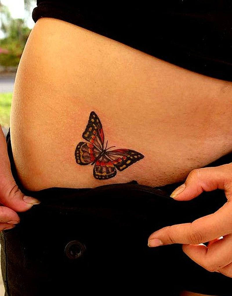 butterfly hip tattoo design 2 tattoos book tattoos designs. Black Bedroom Furniture Sets. Home Design Ideas