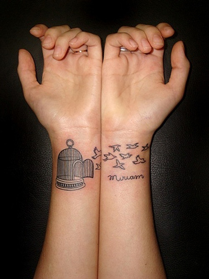 91c137425 Cage birds couple tattoo design - Tattoos Book - 65.000 Tattoos Designs