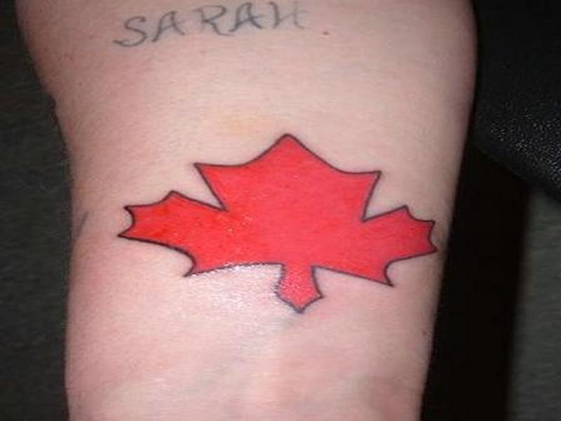 Canada flag tattoo design