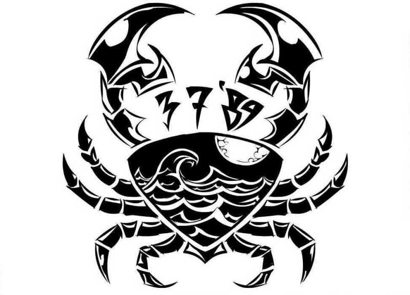 Cancer crab tattoo design