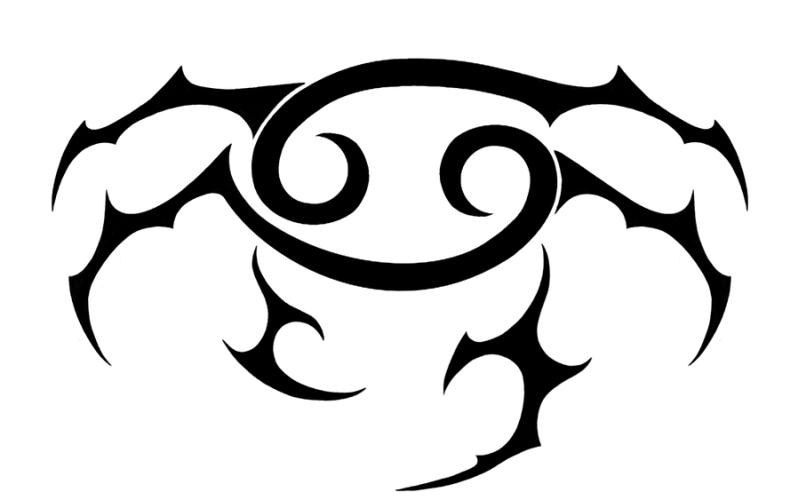 Cancer sign tattoo design