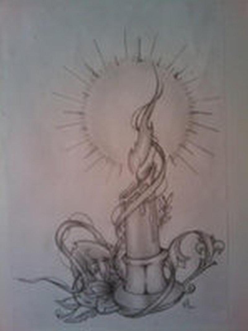 candle design tattoo tattoos book tattoos designs. Black Bedroom Furniture Sets. Home Design Ideas