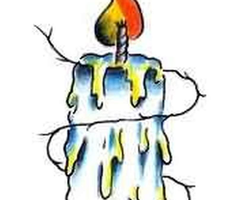 Candle flame tattoo sample
