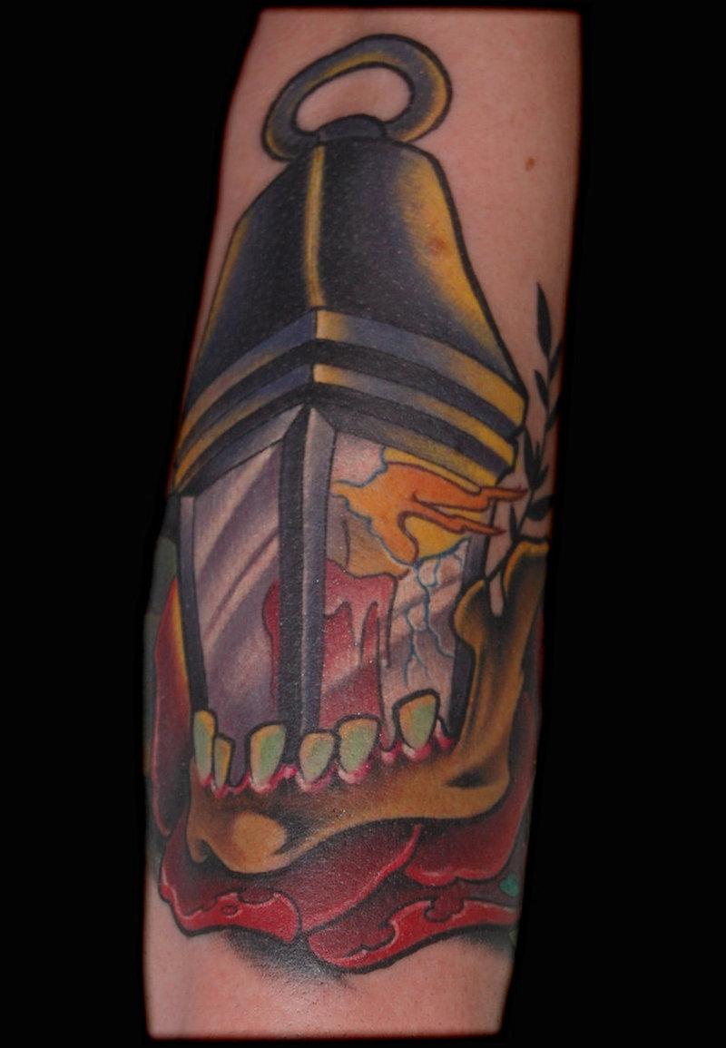 Candle lamp tattoo 2