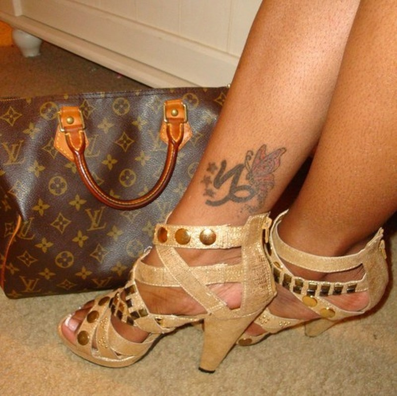 Capricorn butterfly tattoo on ankle