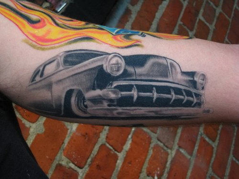 Car front tattoo design