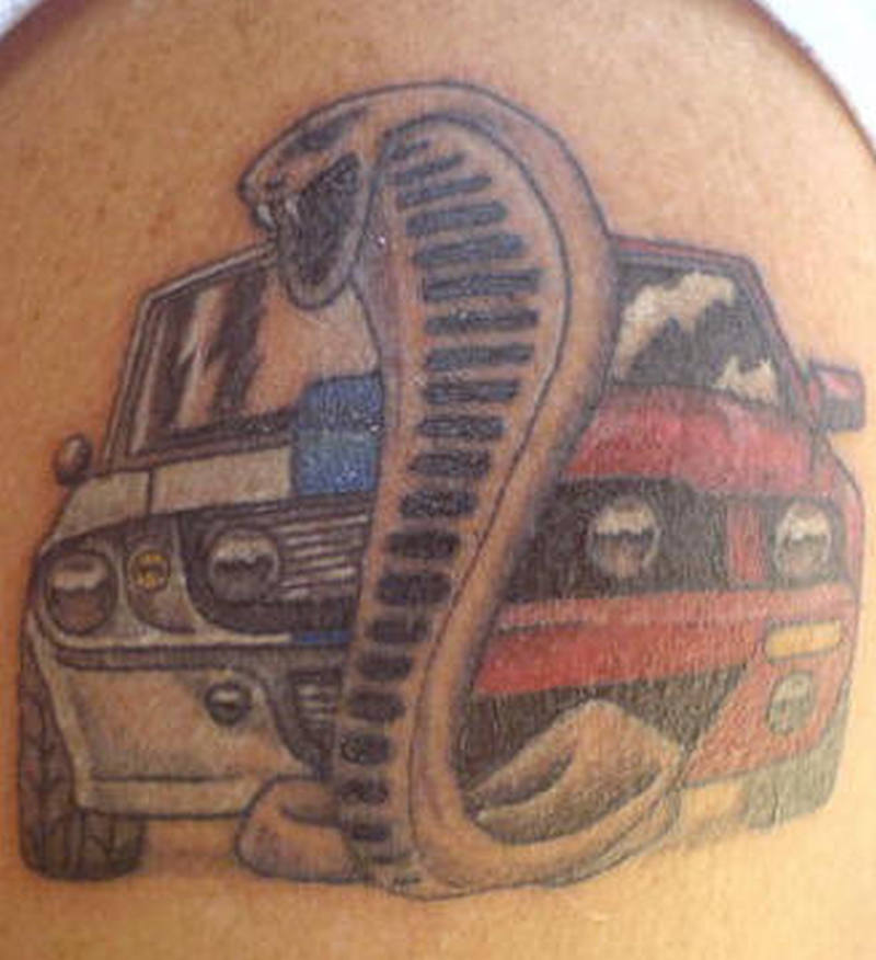 Car snake tattoo