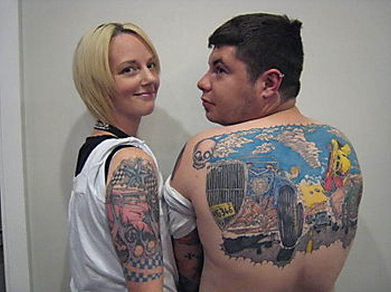 Car tattoo designs for couple