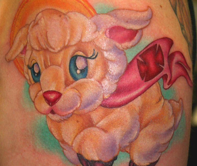Cartoon baby tattoo design