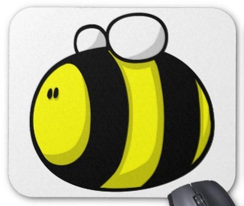 Cartoon bumblebee tattoo design