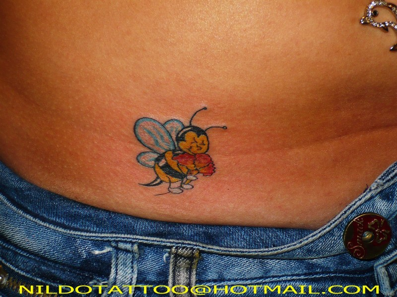 Cartoon bumblebee tattoo image