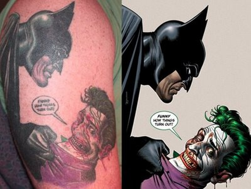 Cartoon character tattoo design