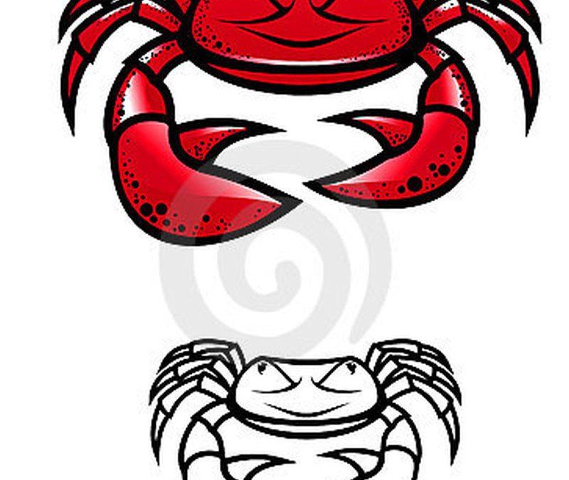 Cartoon crab tattoo designs
