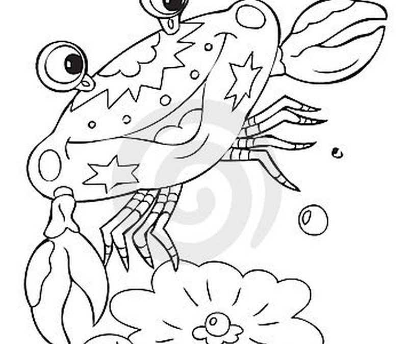 Cartoon crab tattoo sample