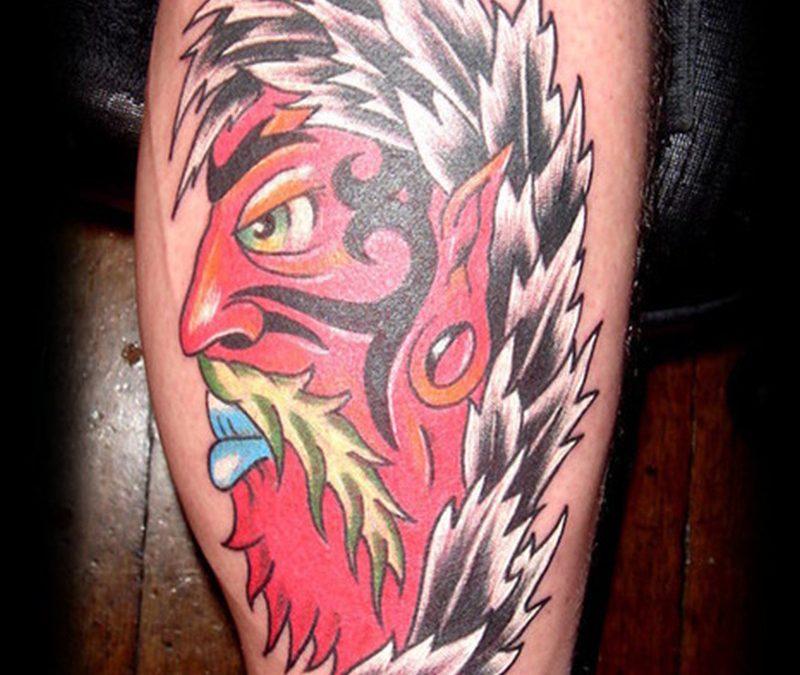 Cartoon devil tattoo design