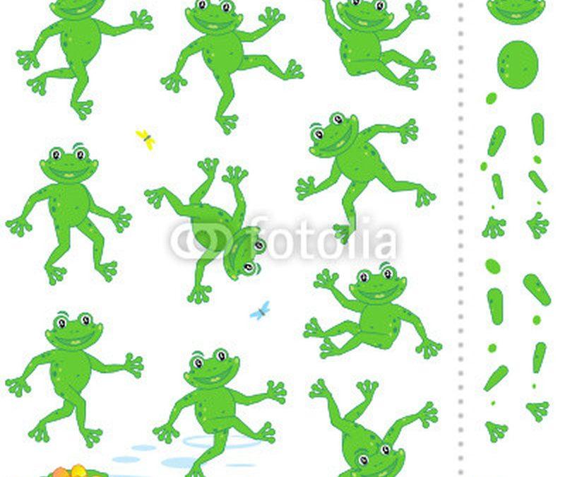 Cartoon frog tattoo collection