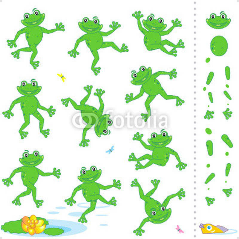Cartoon frog tattoo collection