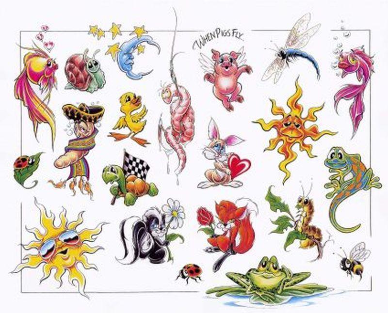 Cartoon spider tattoo designs