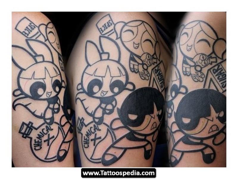 Cartoon tattoos for girls