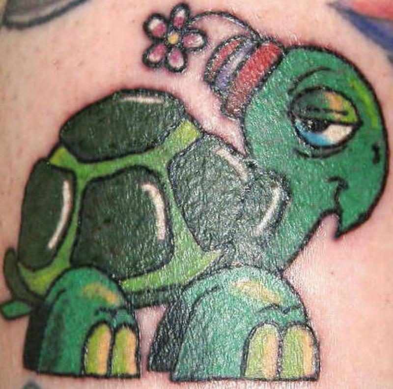 Cartoon Turtle Tattoo Tattoos Book 65 000 Tattoos Designs