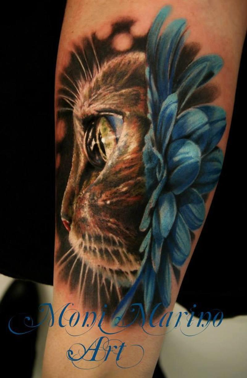 Cat eye tattoo