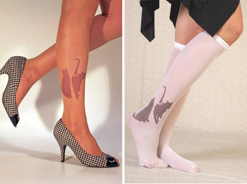 Cat tattoo designs on legs