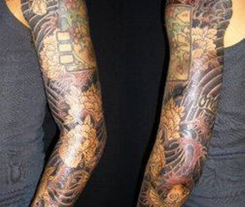 Celebrity japanese sleeve tattoo