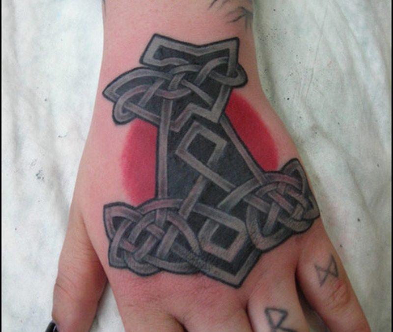 Celtic anchor hand tattoo design