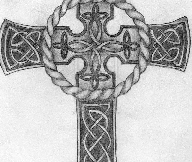 Celtic cross tattoo drawing
