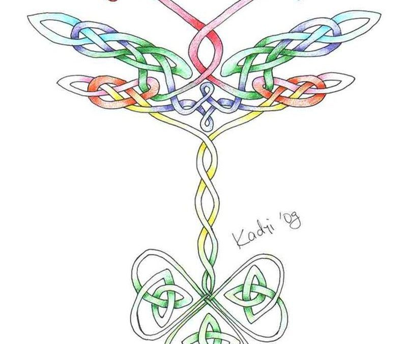 Celtic dragonfly tattoo designs