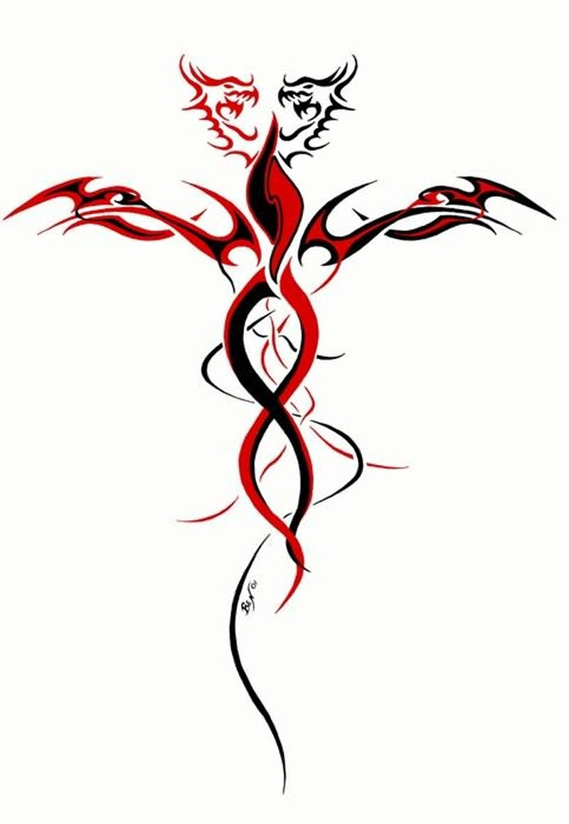 Celtic fantasy tattoo design