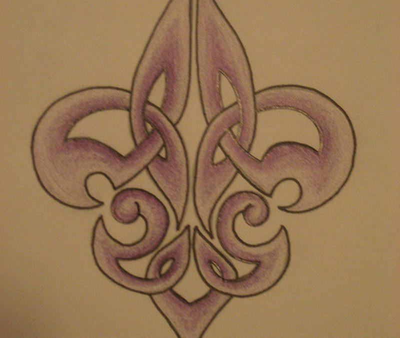 Celtic fleur de lis tattoo design 3