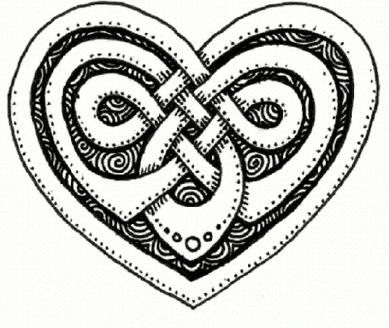 Celtic heart tattoo design